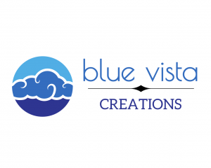 Logo for Blue Vista Creations. South Burlington, Vermont.