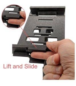 LV Tablet Stand Platform Size Slider